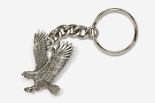 #K333 - Left Flying Eagle Antiqued Pewter Keychain
