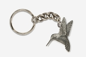 #K350 - Left Flying Hummingbird Antiqued Pewter Keychain