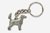#K457E - English Setter (with tail up) Antiqued Pewter Keychain