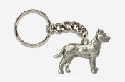 #K460B - Pit Bull Antiqued Pewter Keychain