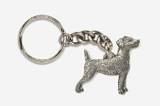 #K461C - Jack Russell Antiqued Pewter Keychain