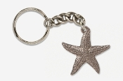 #K539C - Large Starfish Antiqued Pewter Keychain