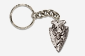 #K702D - Arrowhead & Buck Head Antiqued Pewter Keychain