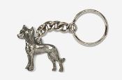 #K880 - Chinese Crested Antiqued Pewter Keychain
