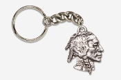 #K920 - Native American Antiqued Pewter Keychain