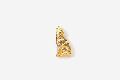 #TT418G - Howling Wolf 24K Plated Tie Tac