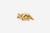 #TT623G - Triceratops 24K Plated Tie Tac
