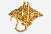 #256G - Cow Nose Ray 24K Gold Plated Pin