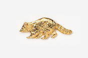 #410G - Raccoon 24K Gold Plated Pin