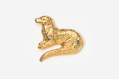#414G - River Otter 24K Gold Plated Pin
