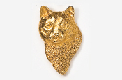 #426AG - Mountain Lion Head 24K Gold Plated Pin