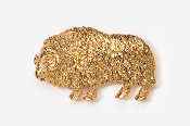 #436G - Muskox 24K Gold Plated Pin