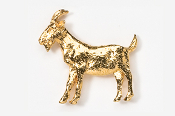 #448G - Goat 24K Gold Plated Pin