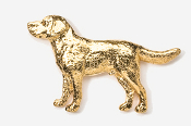 #450AG - Labrador Retriever 24K Gold Plated Pin