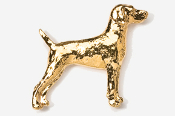 #451AG - Weimeraner 24K Gold Plated Pin
