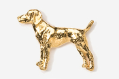 #451BG - Viszla 24K Gold Plated Pin