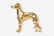 #453EG - Italian Greyhound 24K Gold Plated Pin
