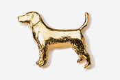 #453G - Beagle 24K Gold Plated Pin