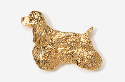 #455AG - Show Clip Cocker Spaniel 24K Gold Plated Pin