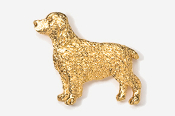 #455BG - Springer Spaniel 24K Gold Plated Pin