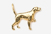 #456G - English Pointer 24K Gold Plated Pin
