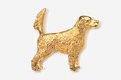 #457EG - English Setter (with tail up) 24K Gold Plated Pin