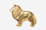 #458G - Sheltie 24K Gold Plated Pin