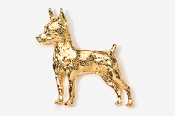 #459AG - Miniature Pinscher 24K Gold Plated Pin
