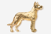 #463BG - Great Dane 24K Gold Plated Pin