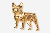 #463FG - French Bulldog 24K Gold Plated Pin