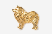 #464BG - Samoyed 24K Gold Plated Pin