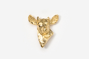 #465AG - Button Buck 24K Gold Plated Pin
