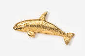 #483G - Killer Whale 24K Gold Plated Pin