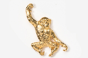 #489AG - Monkey 24K Gold Plated Pin