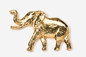 #490G - Elephant 24K Gold Plated Pin