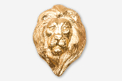 #493AG - Lion Head 24K Gold Plated Pin