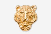 #495AG - Tiger Head 24K Gold Plated Pin