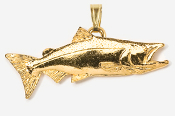 #P124G - Chinook / King Salmon 24K Gold Plated Pendant