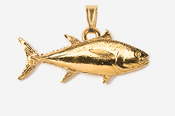 #P202G - Bluefin Tuna 24K Gold Plated Pendant