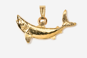 #P213G - Mako Shark 24K Gold Plated Pendant