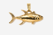 #P218G - Yellowfin Tuna 24K Gold Plated Pendant