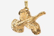 #P308G - Flying Turkey 24K Gold Plated Pendant