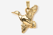 #P321G - Flying Mallard 24K Gold Plated Pendant