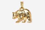 #P405G - Black Bear 24K Gold Plated Pendant