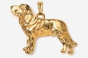 #P453CG - Bloodhound 24K Gold Plated Pendant