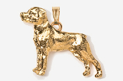 #P460G - Rottweiler 24K Gold Plated Pendant