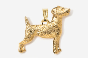 #P461CG - Jack Russell 24K Gold Plated Pendant