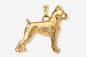 #P463G - Boxer 24K Gold Plated Pendant