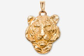 #P495AG - Tiger Head 24K Gold Plated Pendant