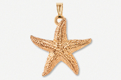 #P539CG - Large Starfish 24K Gold Plated Pendant